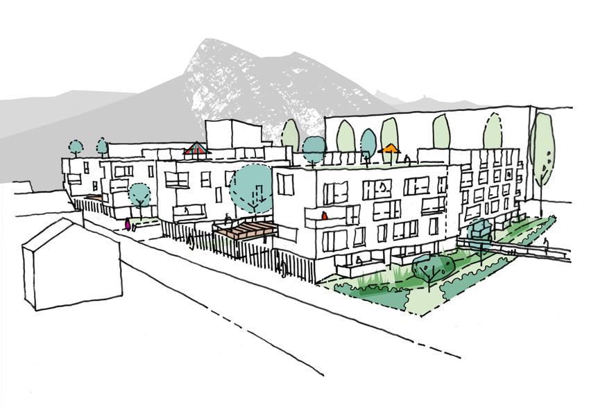 93 logements dans le nouveaux quartier durable de st egreve gtb architectes grenoble. Black Bedroom Furniture Sets. Home Design Ideas