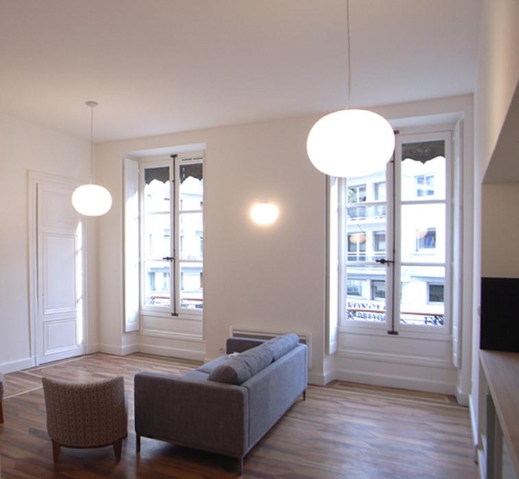 Am nagement de 4 appartements de professeurs invit s de l 39 upmf gtb architectes grenoble for Amenagement appartement grenoble
