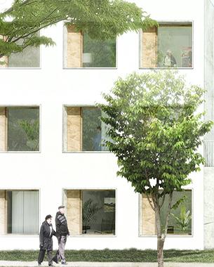 Un nouveau lieu de vie, agréable et généreux, qui s'inscrit dans son environnement, devenant un élément urbain structurant et identifiable de tous.